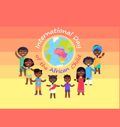 International day of african child commercial vector