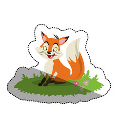 Isolated fox cartoon design vector