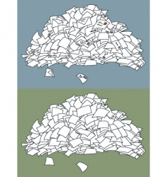 letter pile vector image