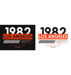 Los angeles athletic typography for t-shirt vector