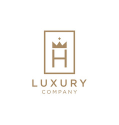 luxury vintage logo design with initial h vector image