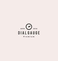 modern dial gauge logo icon vector image