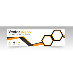 modern hexagon header design background ima vector image