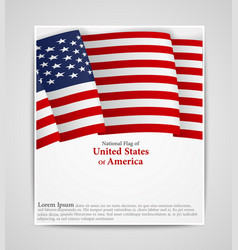 National flag brochure of united states of america vector