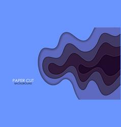 papercut blue gradient layers effect texture vector image