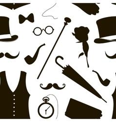 Pattern of elements for gentlemen vector