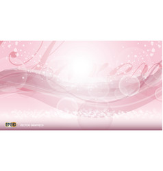 Pink glamorous fragrance sparkling effects vector