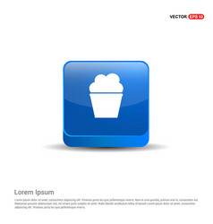 Popcorn exploding inside the packaging icon - 3d vector