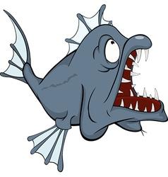 Predatory fish vector image