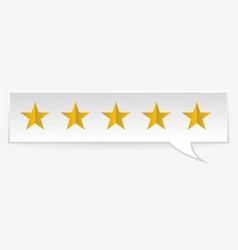 rating rank stars symbols vector image