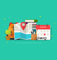 research travel or business trip destination vector image