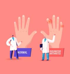 Rheumatoid arthritis sickness concept doctor vector