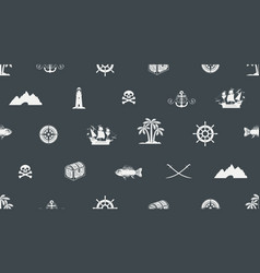 seamless background on pirate and sea theme vector image