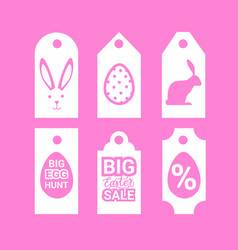 set of easter sale signs shopping holiday special vector image