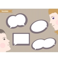 Set of speech bubbles blank templates vector image
