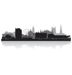 Sheffield city skyline silhouette vector image