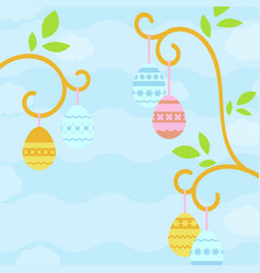 simple flat with easter eggs suitable for vector image