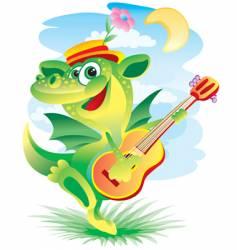 Singing dragon vector