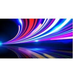 Slow shutter traffic light vector