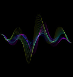Sound wave rhythm background spectrum color vector