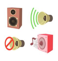 speaker icon set cartoon style vector image