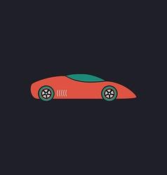 Sport car computer symbol vector