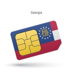 State of Georgia phone sim card with flag vector
