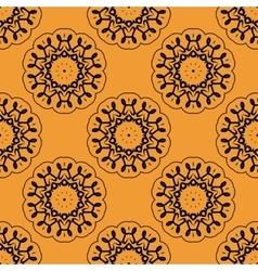 Symmetric seamless wallpaper pattern based on vector