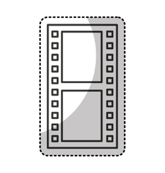 Tape photographic roll isolated icon vector