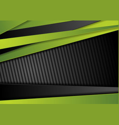 tech black background with contrast green stripes vector image
