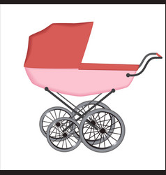 The buggy or carriage for baby vector