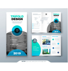 Tri fold brochure design business template for vector