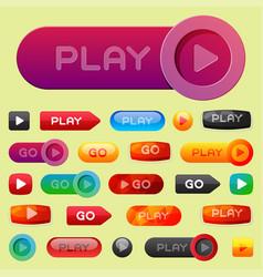 Ui interface button play media internet website vector