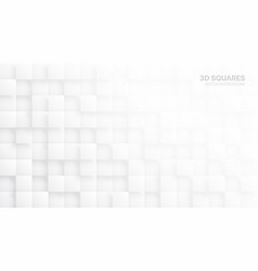 white 3d blocks abstract background vector image