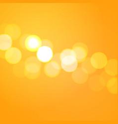 Yellow background with bokeh lights vector