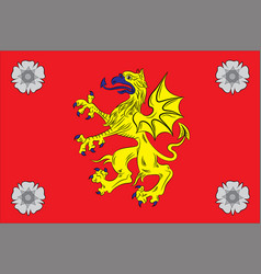 Flag of ostergotland county of sweden vector