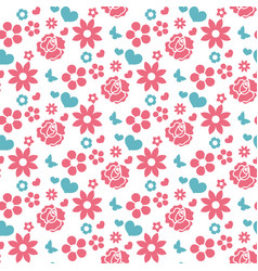 happy valentine s day seamless pattern cute vector image