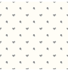 seamless retro pattern with bow tie and ro vector image vector image