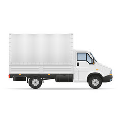 small truck van lorry for transportation of cargo vector image