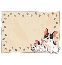 The three puppies vector image