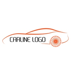 Calligraphic car logo vector image vector image