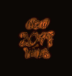 happy new year 2017 isolated text and numbers on vector image