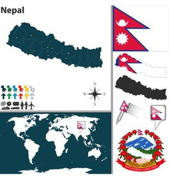 Nepal map vector image vector image