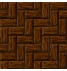 seamless wooden panel door texture with nails vector image vector image