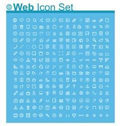 Web page icon set vector image