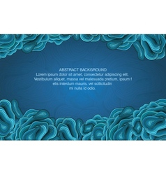 Abstract blue curve design template vector image