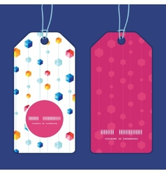 abstract hanging jewels striped vertical vector image vector image