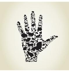 Hand an animal vector image vector image