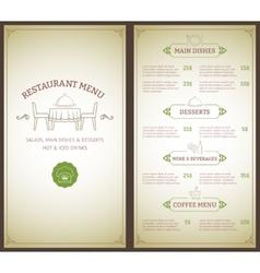 Restaurant menu template vector