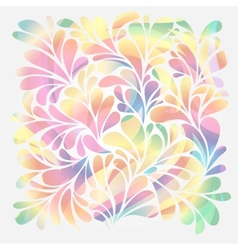 Splash of floral and ornamental drops background vector image vector image